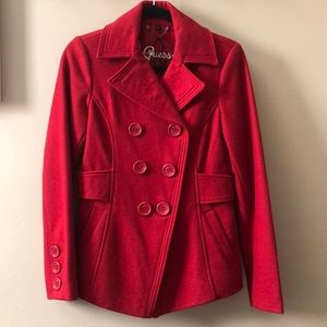 RED GUESS Peacoat